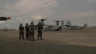 V-22 Osprey Travel From Philippines After Japan Earthquake