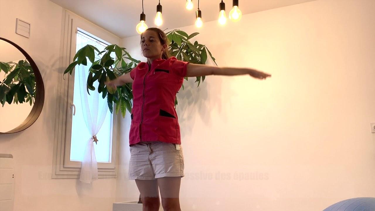 Exercices de mobilisation des épaules (tendinite, capsulite rétractile)