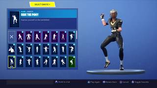FORTNITE *BLITZ* SKIN SHOWCASE (NEW NFL SKIN) BACK BLINGS AND EMOTES