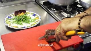 Простое Блюдо из Говядины. Итальянский Рецепт от Професионала. Tagliata di Manzo