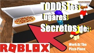 ALL ROBLOX Work at a Pizza Place SECRETS #RoyBlox