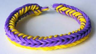 Красивые браслеты из резинок. Браслет ТРИАДА двухсторонний