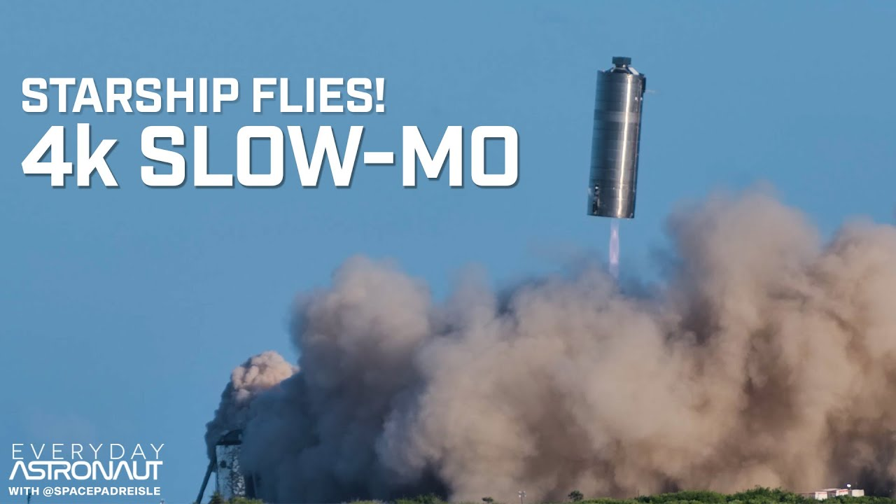 SpaceX Starship SN-5 4K in Slow Motion!!!