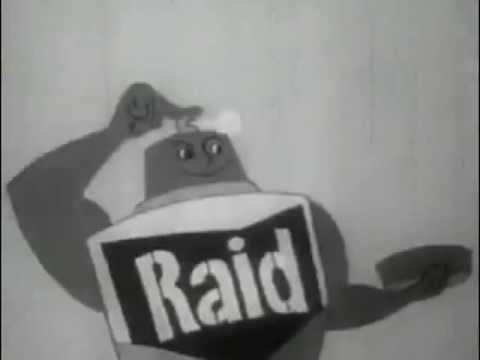 hqdefault 1950's raid home and garden bug spray commercial youtube