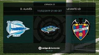 Calentamiento D. Alavés vs Levante UD