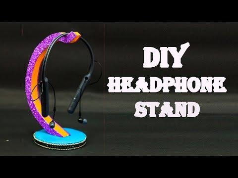 How To Make Headphone Holder | Diy Cardboard Headphone Stand