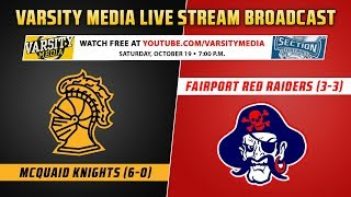 Section V Football: Fairport vs. McQuaid (10/19/2019)