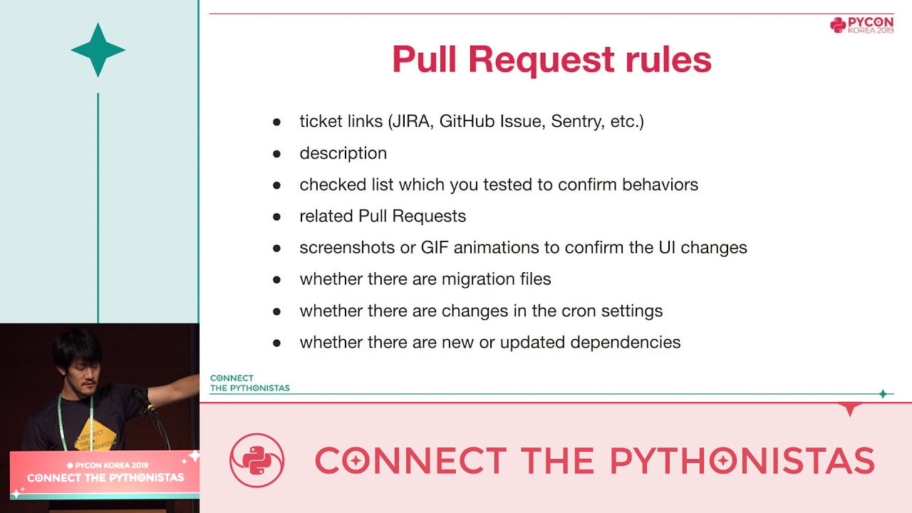 Image from Code review tips for Pythonistas - 新井 正貴 - PyCon.KR 2019