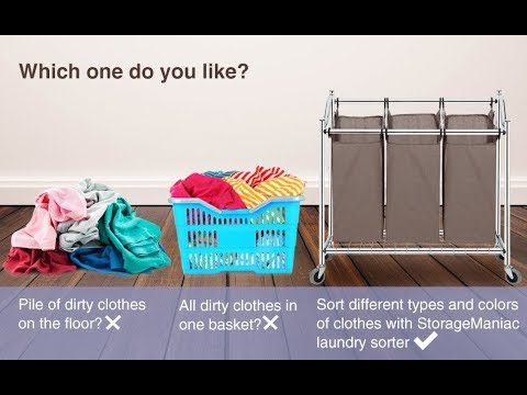 How to Assemble Storage Maniac 3-Section Heavy Duty Laundry Hamper Sorter