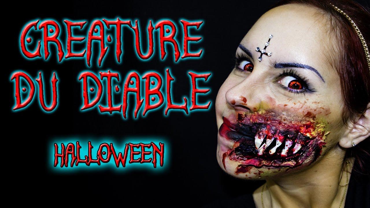 creature du diable demon maquillage halloween makeup. Black Bedroom Furniture Sets. Home Design Ideas