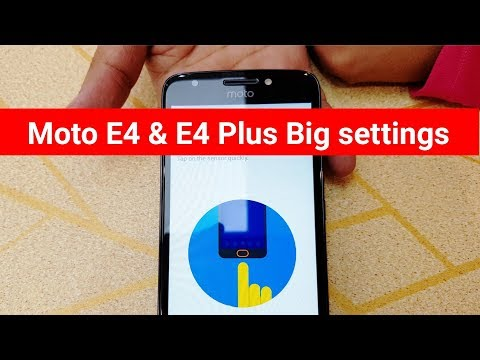 Moto E4 & E4 plus fingerprint big setting | i think U don't know