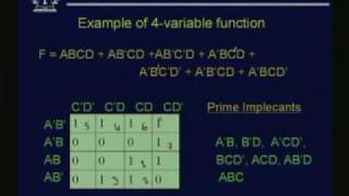 Lecture - 10 Boolean Function Minimization