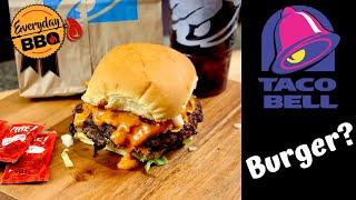 Taco Bell Smash Burger Creation - Concept Burger - Blackstone Griddle Recipe - Everyday BBQ