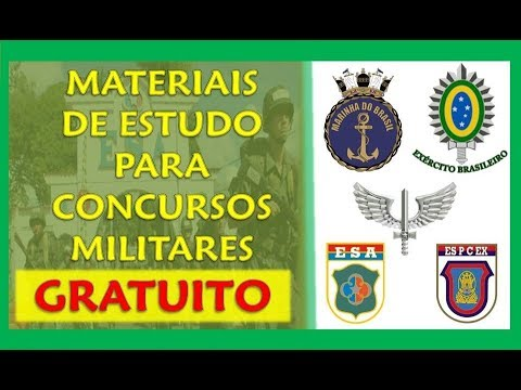 MATERIAIS DE ESTUDO GRATUITOS PARA CONCURSOS MILITARES! Apostilas, Exercícios, Provas E Muito Mais
