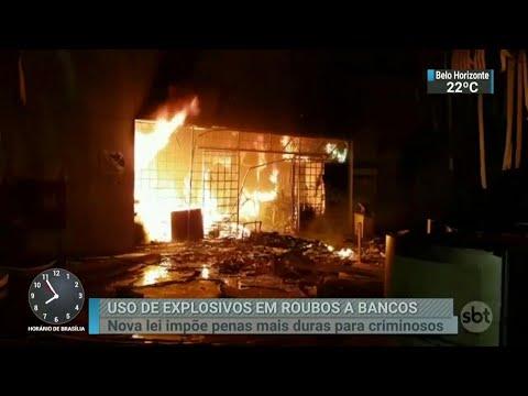 Crimes praticados com o uso de explosivos terão penas mais duras | SBT Brasil (24/04/18)