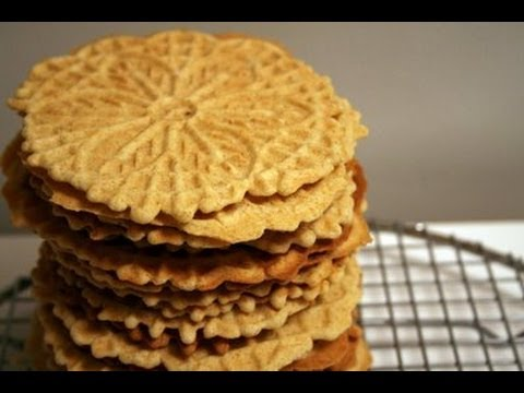 How to Make Homemade Italian Pizzelle Cookies