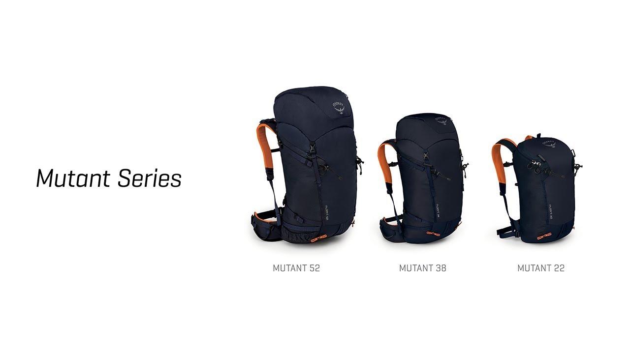 2e38a77ce6fd Osprey Mutant 22L Climbing Backpack - Black Ice