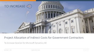 Project Allocation of Indirect Cost in Government Contracting for Microsoft Dynamics AX