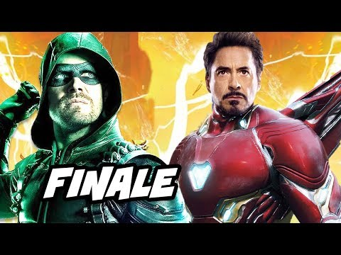 Arrow Season 6 Episode 23 Finale - Iron Man Scene and Easter Eggs Explained