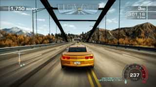 NFS Hot Pursuit PC Gameplay on GT 520 - Chevrolet Camaro