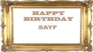 Sayf   Birthday Postcards & Postales - Happy Birthday