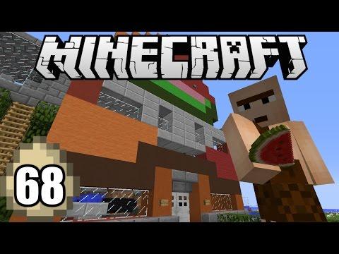 Minecraft Survival Indonesia - Farm Otomatis Melon dan Pumpkin! (68)