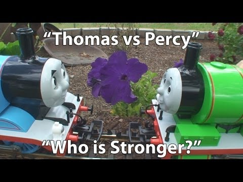 (Thomas vs Percy) Thomas the Tank Engine and Percy the Small Engine – Who is Stronger?