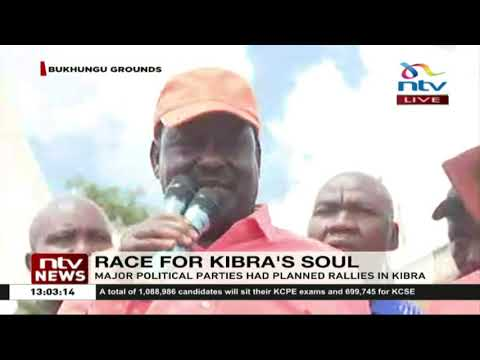 Kibra by-election: Raila addresses constituents as ODM supporters lock out Ford Kenya
