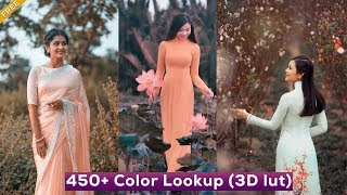 450+ Color Lookup 3D luts Presets for Photoshop - Free Download