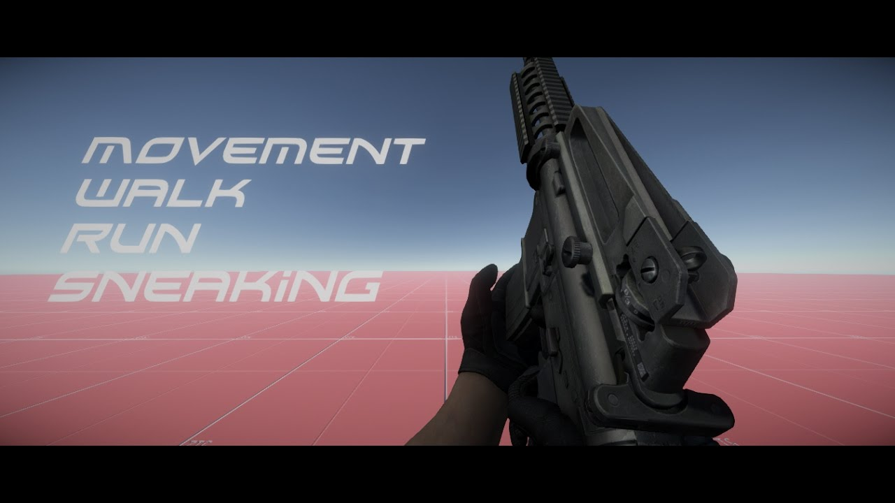 Unity 5 tutorial make a fps movement walk run sneaking or crouch