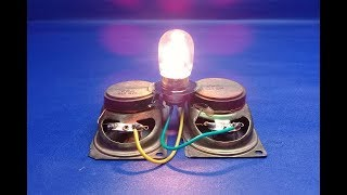 How to make 100% free energy light bulbs generator with speaker magnets - at home