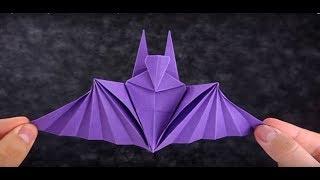 Hướng dẫn gấp con Dơi đơn giản - Origami - Gấp giấy nghệ thuật KS