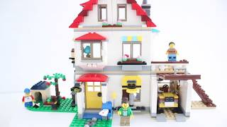 Lego creator family house 31069. Unboxing, speed building stop motion, kids play.