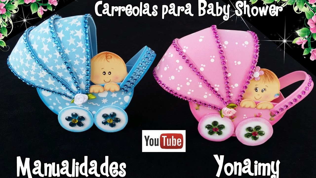 a09eb20d9 CARREOLA CON BEBE PARA BABY SHOWER - YouTube
