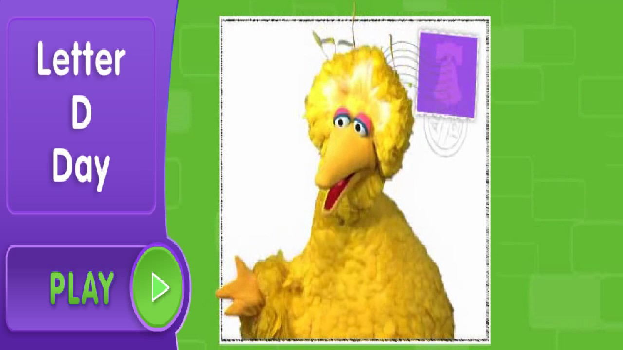 Sesame Street Letter D Day With Big Bird