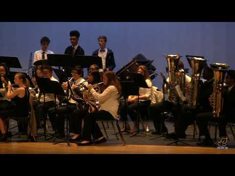 Knightdale High School of Collaborative Design Wind Ensemble performs The Thunderer on 3/23/2018