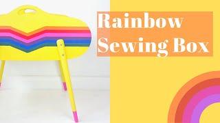 Rainbow Commission  Painted Craft Box