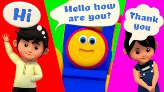 Greeting Song | Learning Street With Bob The Train | Kids Show | Cartoons For Children by Kids Tv