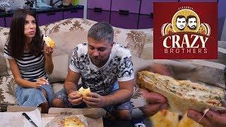 Обзор доставки Crazy Brothers Москва. Четырехэтажная пицца или лазанья или пирог?;) #PRostoEda