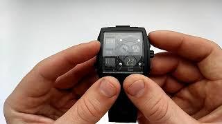 Необычные водонепроницаемые часы Skmei 1274 обзор, отзывы, настройка, инструкция на русском