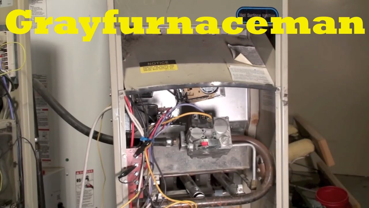 how the rheem rgda gas furnace works youtube