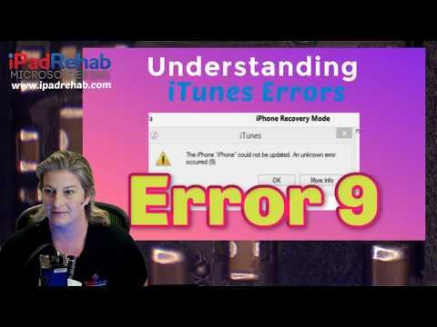 What Causes ITunes Error 9?