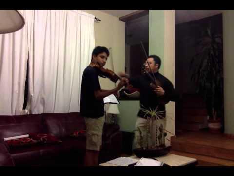 Violin masterclass. La ronde des lutins de Bazzini. David Israel Capilla
