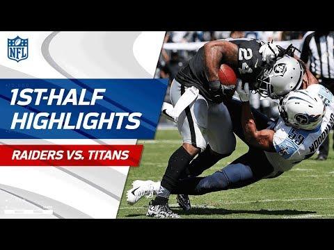 Raiders vs. Titans First-Half Highlights | NFL Week 1