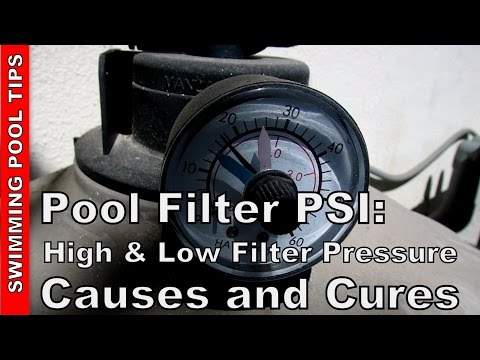Pool Filter PSI: High and Low Filter Pressure - Causes and Cures