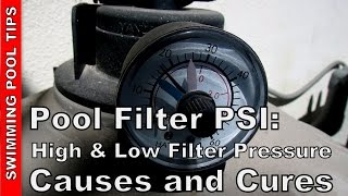 In this video I cover the PSI reading on your pool filters pressure...