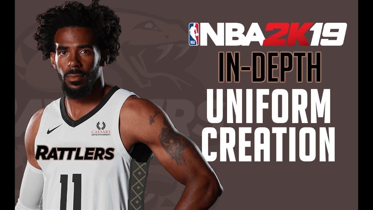 NBA 2k19 Custom Uniform Tutorial - How to make custom uniforms in 2k19