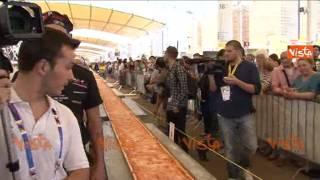 LA PIZZA PIU' LUNGA DEL MONDO - BIGGEST PIZZA IN THE WORLD EXPO 2015