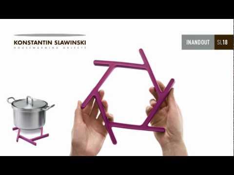 silicone trivet inandout by konstantin slawinski design ding3000. Black Bedroom Furniture Sets. Home Design Ideas