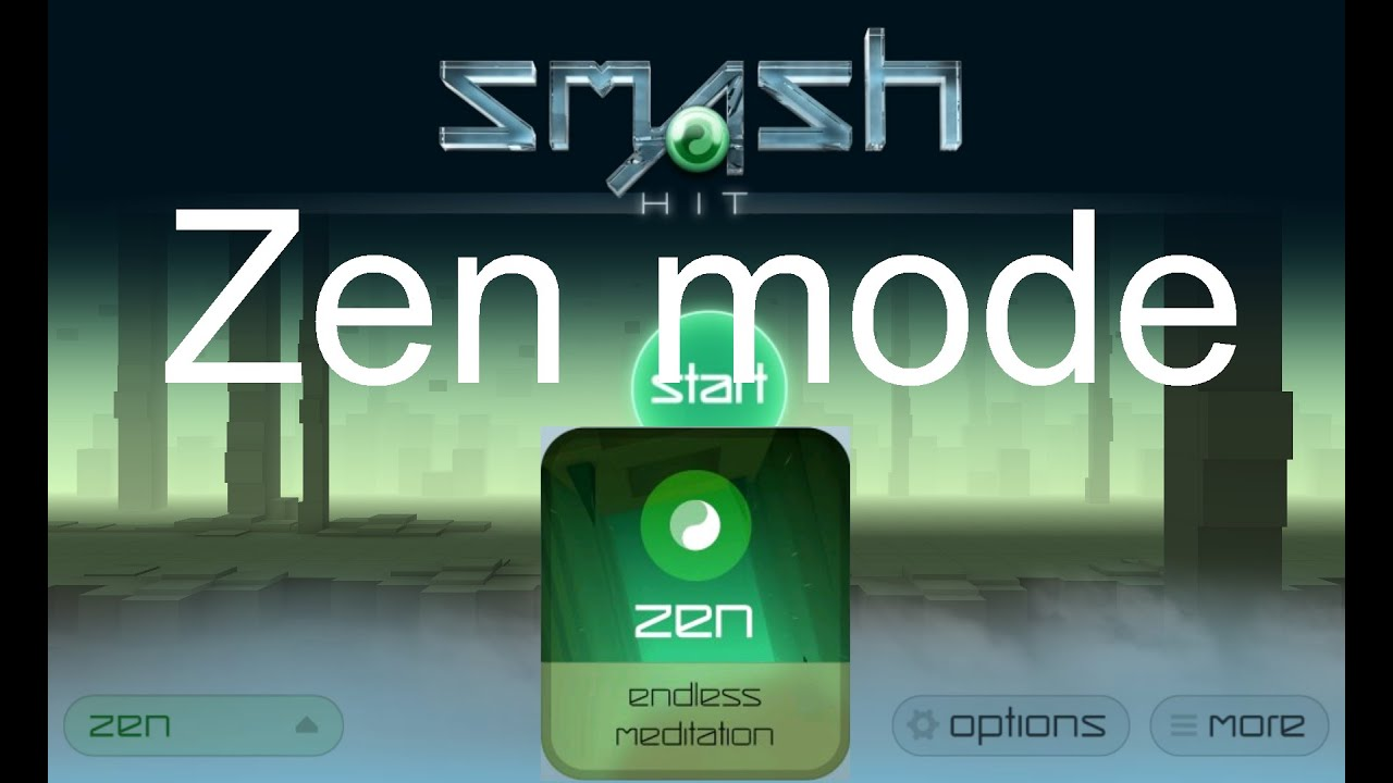 Smash Hit Zen mode gameplay (Unlimited balls + No obstacles)